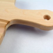 Crafted bread cutting board made from Canadian maple