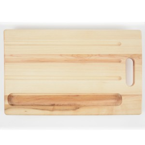 Breadboard with a knife holder. Made from hardwood maple. Canadian made.