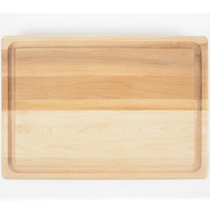 Meat cutting board with juice groove