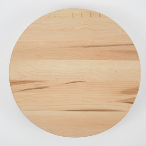 Small round cutting board. Made from 100% premium Canadian Maple Hardwood.